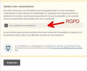 MailChimp RGPD