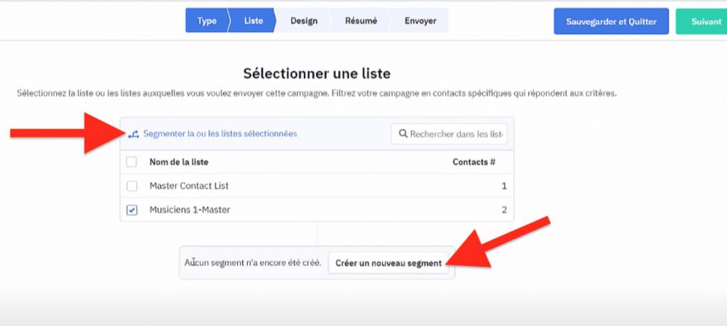 Segmenter la liste d'envoi de la newsletter ActiveCampaign