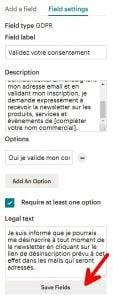 traduction formulaire mailchimp rgpd francais