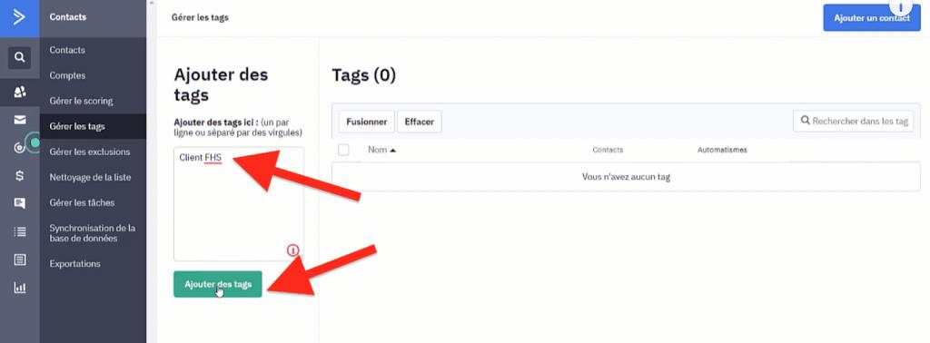 Ajouter des Tags ActiveCampaign