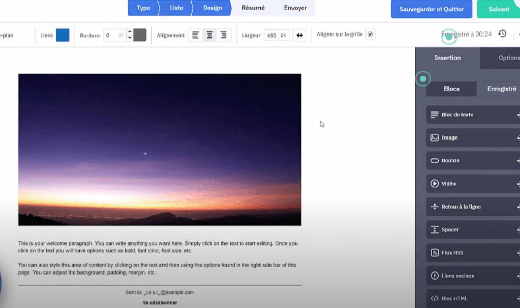 Modèle brut template Newsletter Activeampaign
