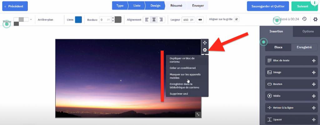 Paramétrer les blocs en partant de zéro pour envoyer sa première Newsletter ActiveCamapaign