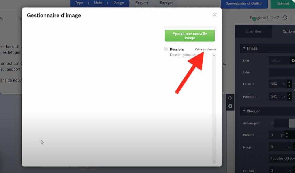 Créer un dossier pour les images dans les newsletters ActiveCampaign